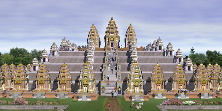 Рис. 19. Храм Пном Бакхенг, компьютерная реконструкция.