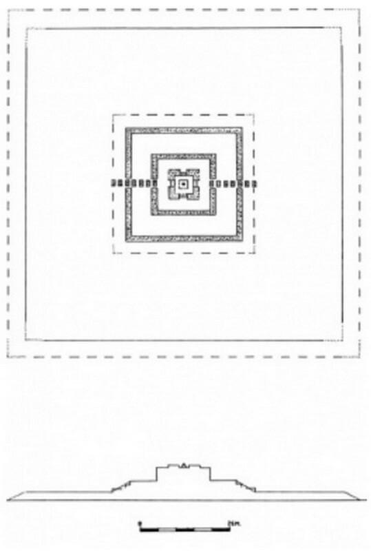 Рис. 17. План и профиль храма Ронг Чен (конец VIII – нач. IX вв.).