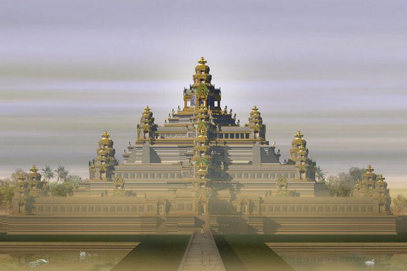 Рис. 38. Храм Бапхуон (ок. 1060), реконструкция.