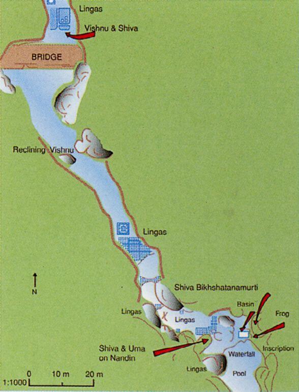Рис. 43. Схема комплекса реки «Тысячи Линг» Кбал Спиен.