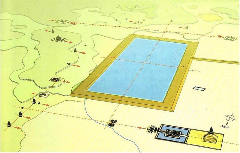 Рис. 33. Модель центральной части города Лингапура (перв. пол. X в.).