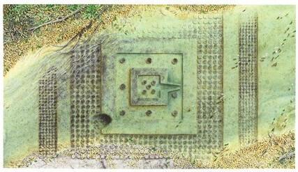 Рис. 49. Схема расположения орнаментов вокруг плоской йони-линги.