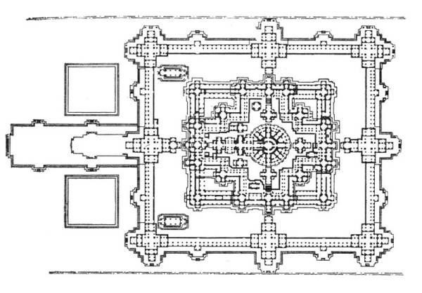 Храм Байон. План.